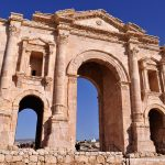 The Hadrian's Arch at Jerash